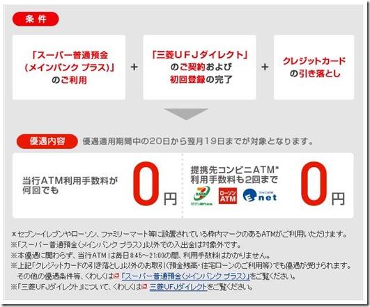 三菱ATM手数料