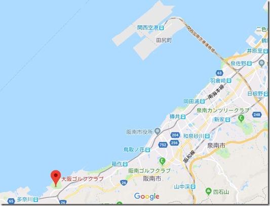 大阪ゴルフクラブ地図