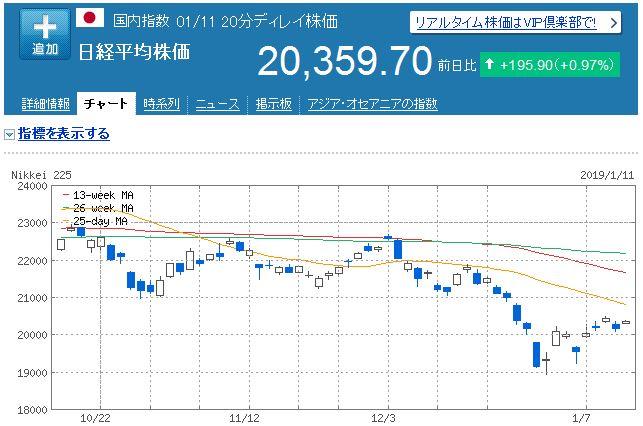 【株式投資】2019年1月2週の状況