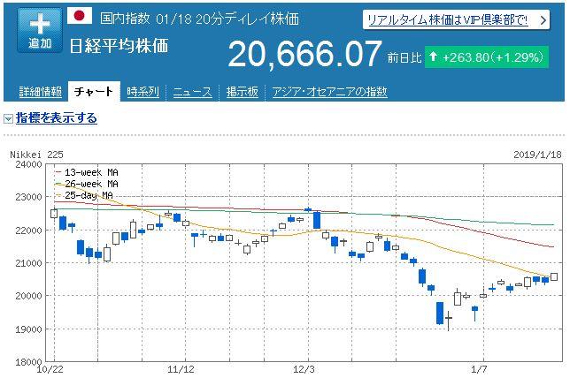 【株式投資】2019年1月3週の状況