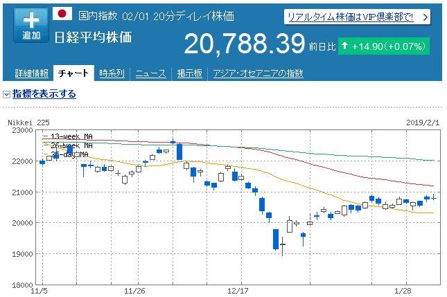 【株式投資】2019年1月5週の状況
