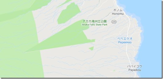 アカカの滝 地図